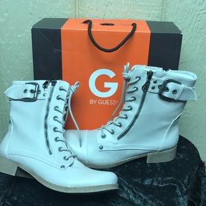 G By Guess Boots Size 7.5 M Combat Style lace up